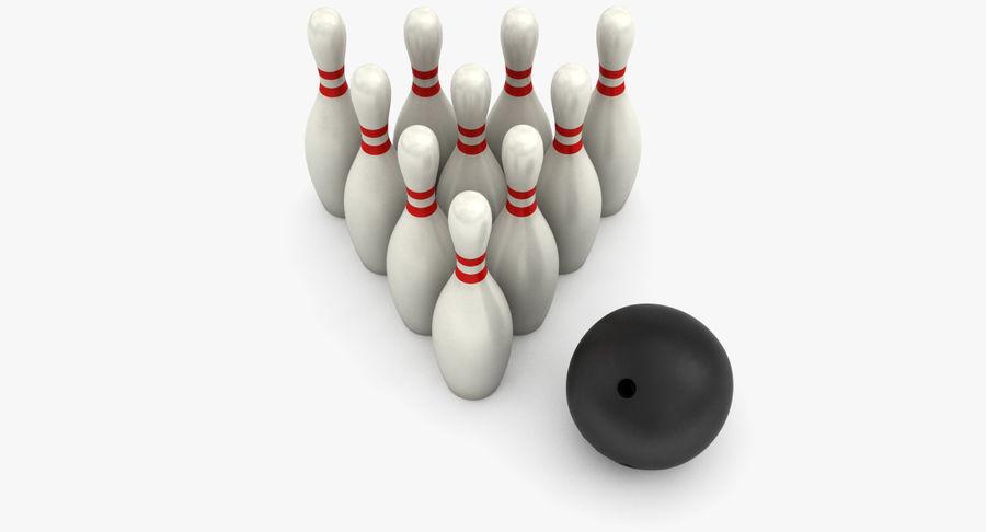 Bowling Pins royalty-free 3d model - Preview no. 6