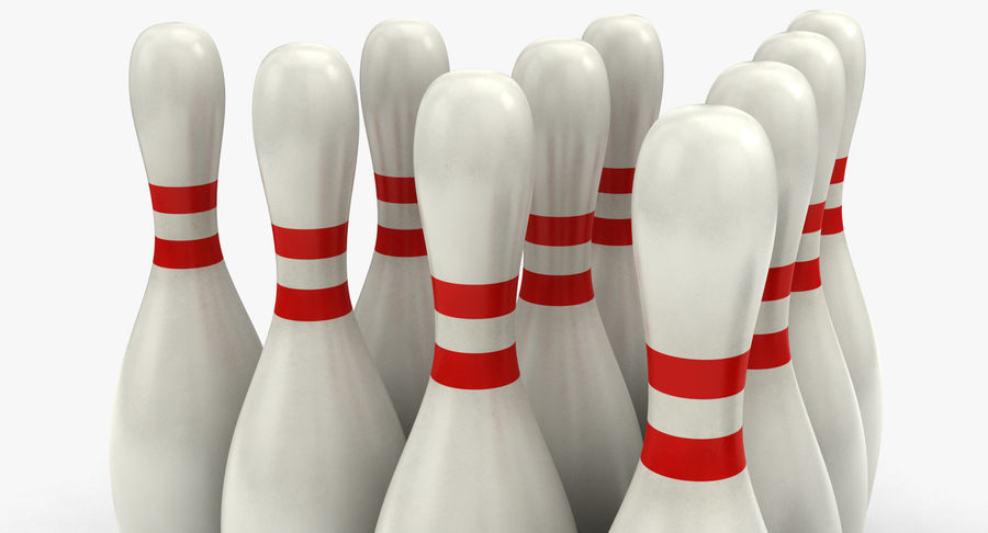 Bowling Pins royalty-free 3d model - Preview no. 7