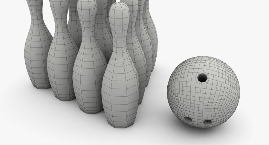 Bowling Pins royalty-free 3d model - Preview no. 12