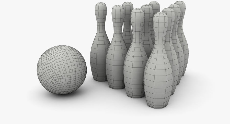 Bowling Pins royalty-free 3d model - Preview no. 11