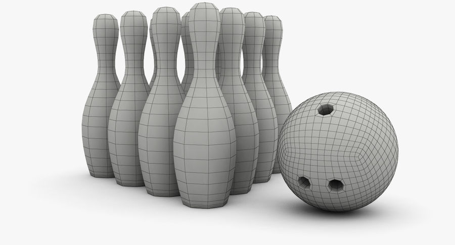 Bowling Pins royalty-free 3d model - Preview no. 9