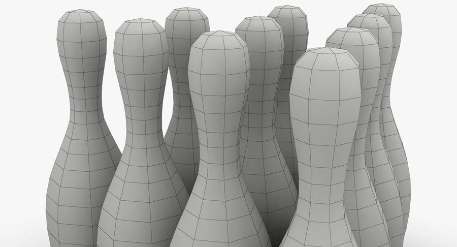 Bowling Pins royalty-free 3d model - Preview no. 14