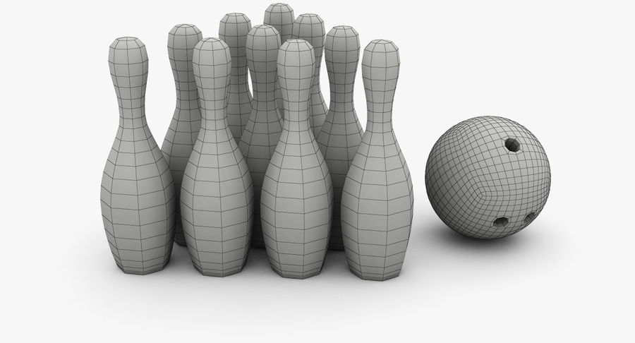 Bowling Pins royalty-free 3d model - Preview no. 10