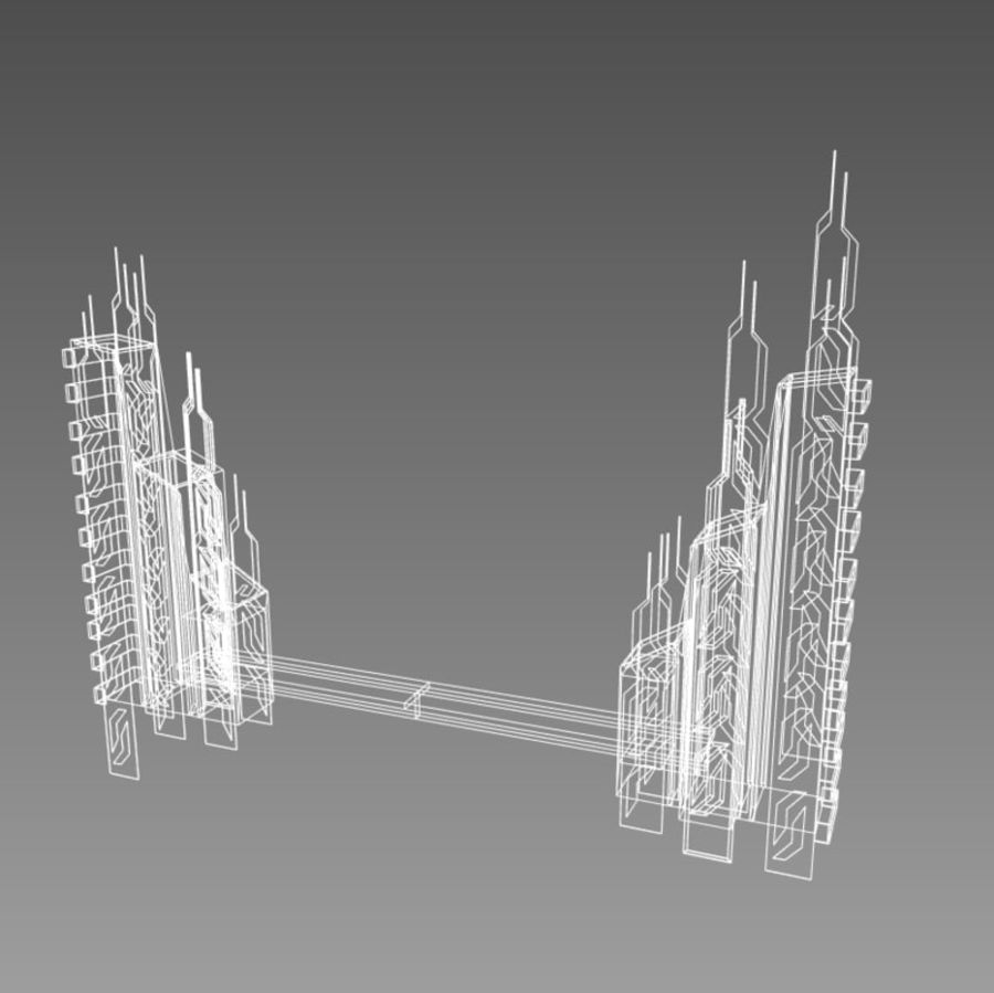 Future City set royalty-free 3d model - Preview no. 13