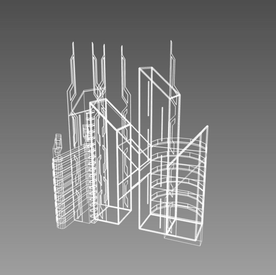 Future City set royalty-free 3d model - Preview no. 14