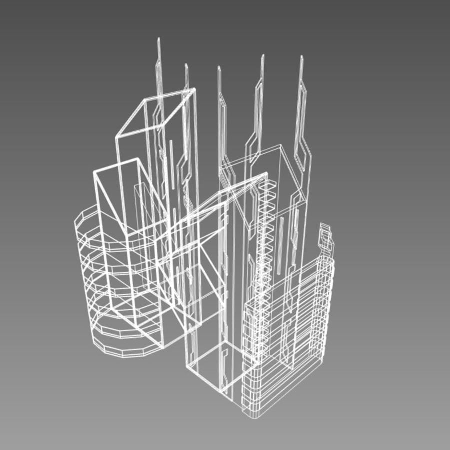 Future City set royalty-free 3d model - Preview no. 12