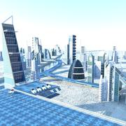 Future City ingesteld 3d model