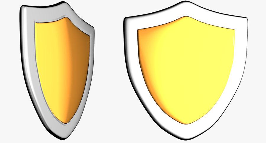 Tecknad Shield royalty-free 3d model - Preview no. 1