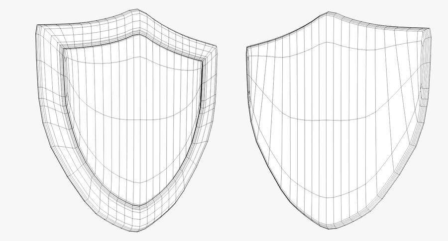 Tecknad Shield royalty-free 3d model - Preview no. 5