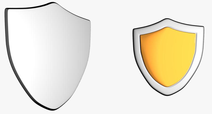 Tecknad Shield royalty-free 3d model - Preview no. 2