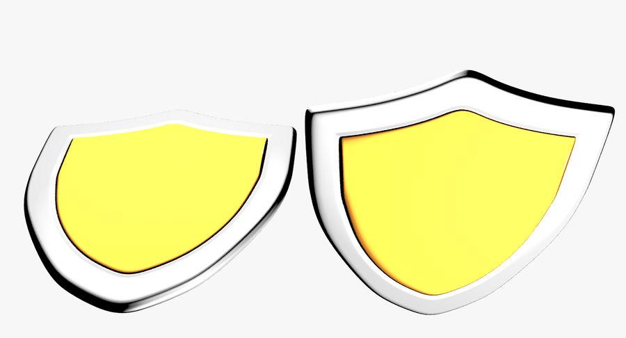 Tecknad Shield royalty-free 3d model - Preview no. 3