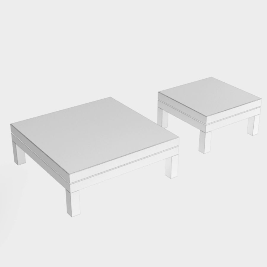 Table coffee069 royalty-free 3d model - Preview no. 6