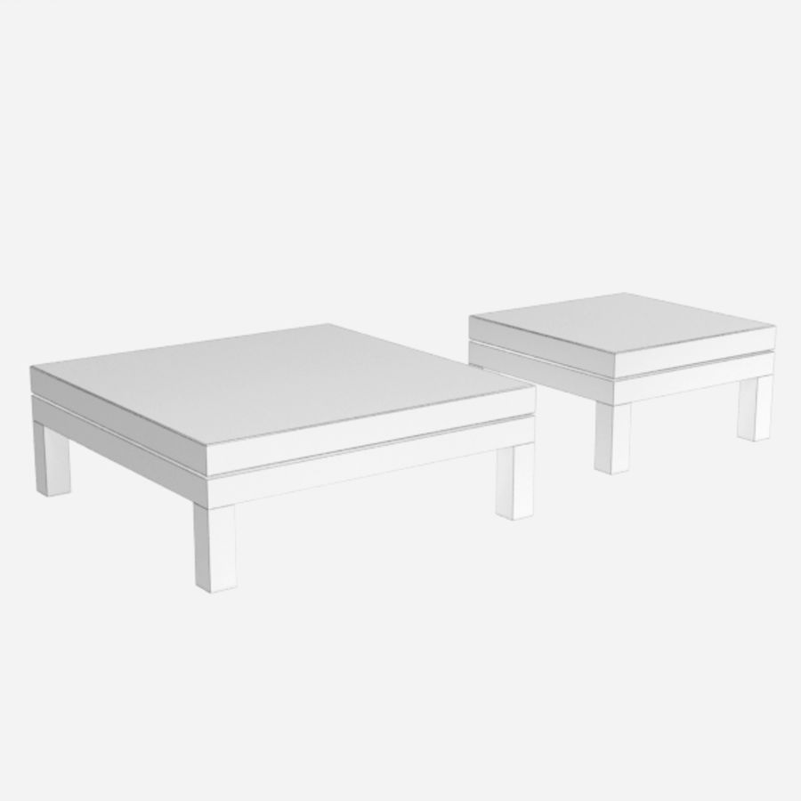 Table coffee069 royalty-free 3d model - Preview no. 5