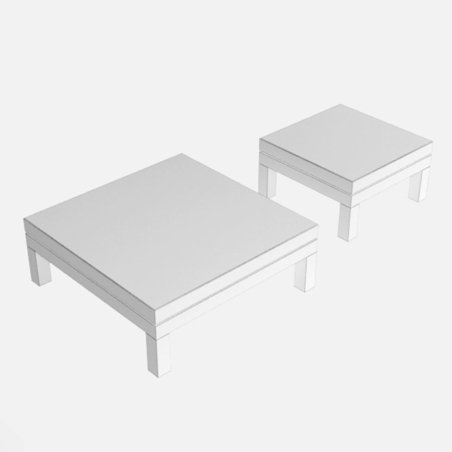 Table coffee069 royalty-free 3d model - Preview no. 7
