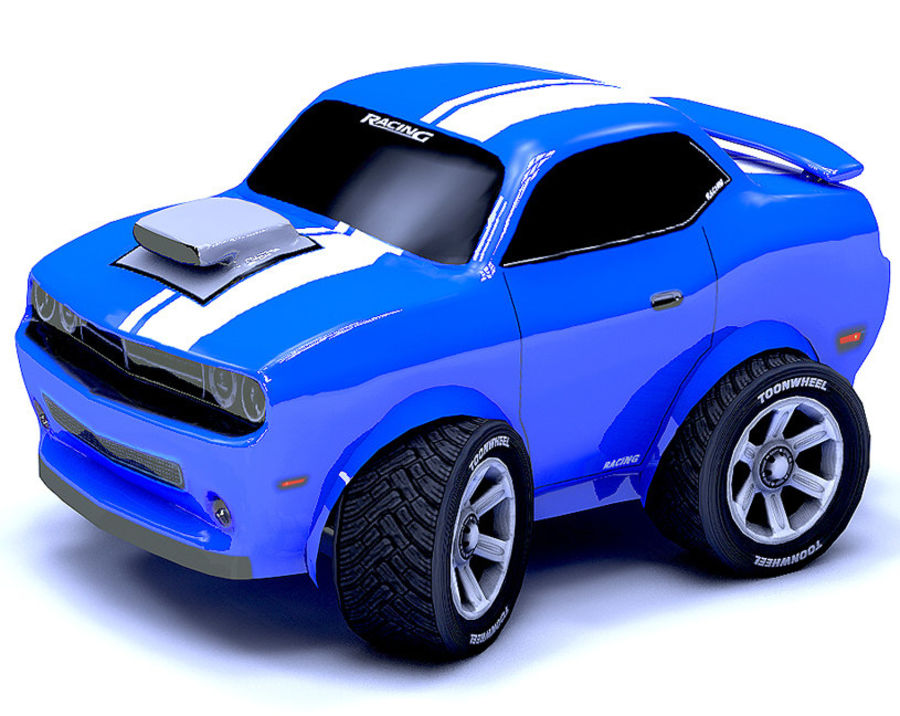 Toon Car Challeng two mesh royalty-free 3d model - Preview no. 1