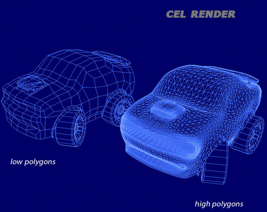 Toon Car Challeng two mesh royalty-free 3d model - Preview no. 7