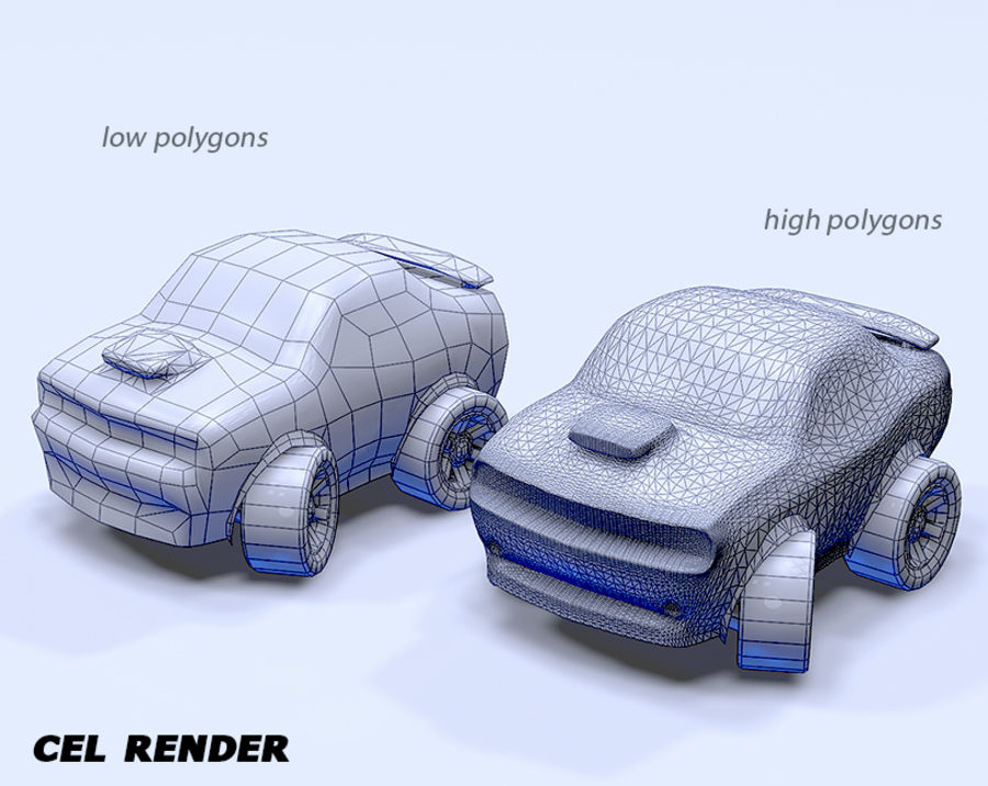 Toon Car Challeng two mesh royalty-free 3d model - Preview no. 6