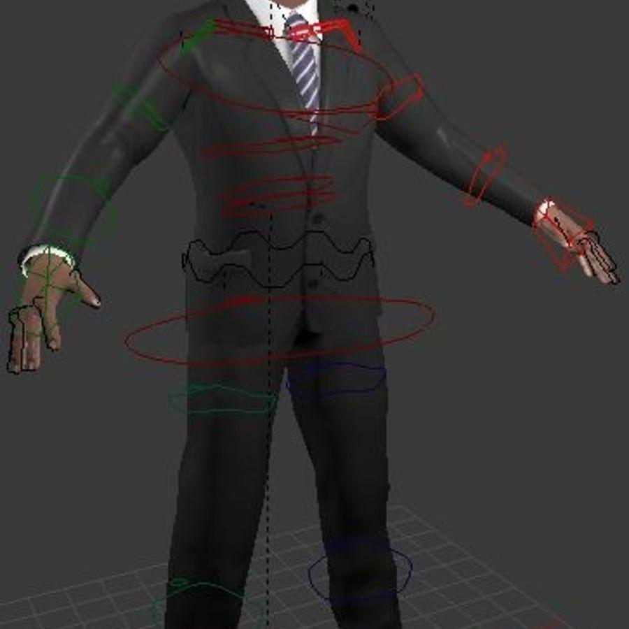 Human Character (rigged) 3D Model $5 -  unknown  obj  fbx  blend