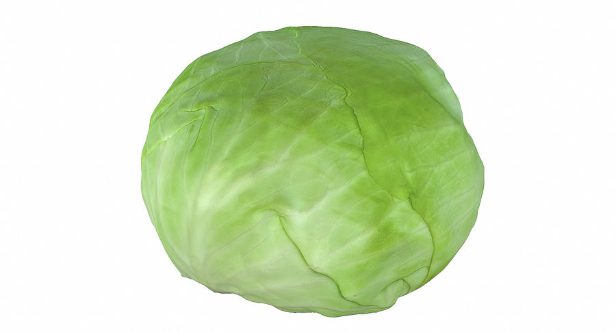 High Poly Cabbage royalty-free 3d model - Preview no. 3