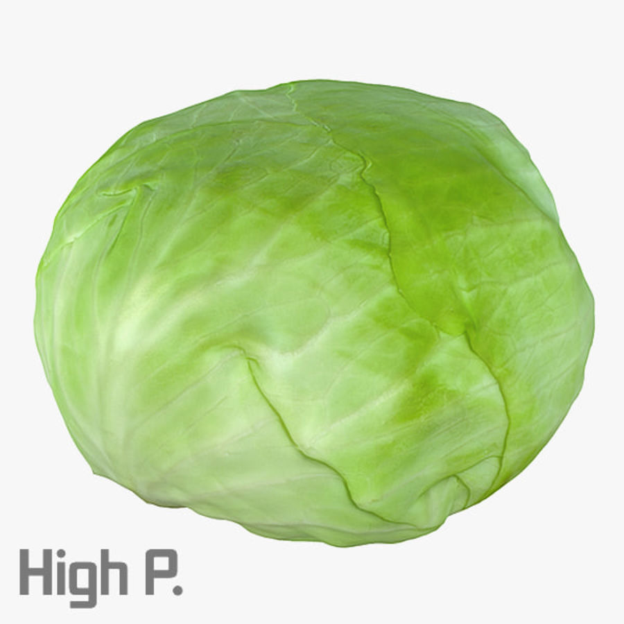 High Poly Cabbage royalty-free 3d model - Preview no. 1