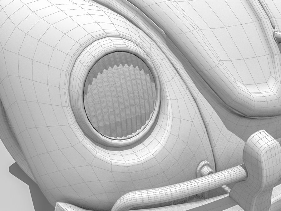 VW Beetle 1300 royalty-free 3d model - Preview no. 8