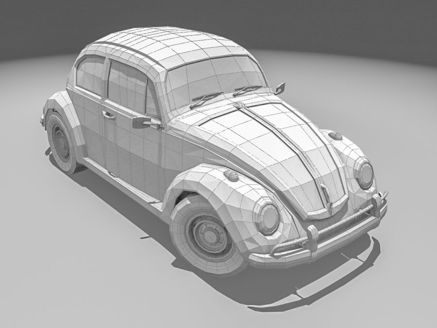 VW Beetle 1300 royalty-free 3d model - Preview no. 3