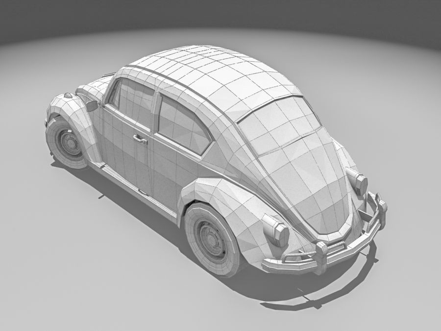 VW Beetle 1300 royalty-free 3d model - Preview no. 6