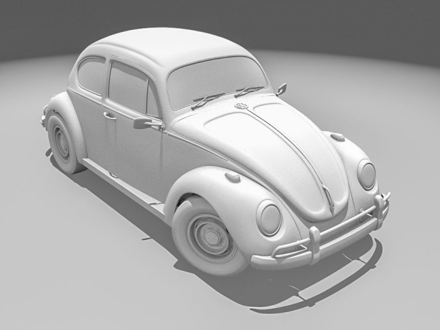 VW Beetle 1300 royalty-free 3d model - Preview no. 1
