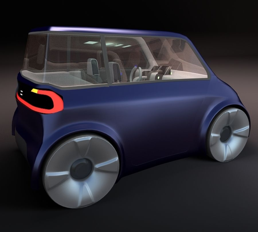 Compact electric concept car 9 v2 royalty-free 3d model - Preview no. 4