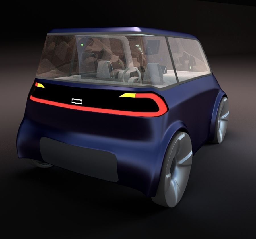Compact electric concept car 9 v2 royalty-free 3d model - Preview no. 5