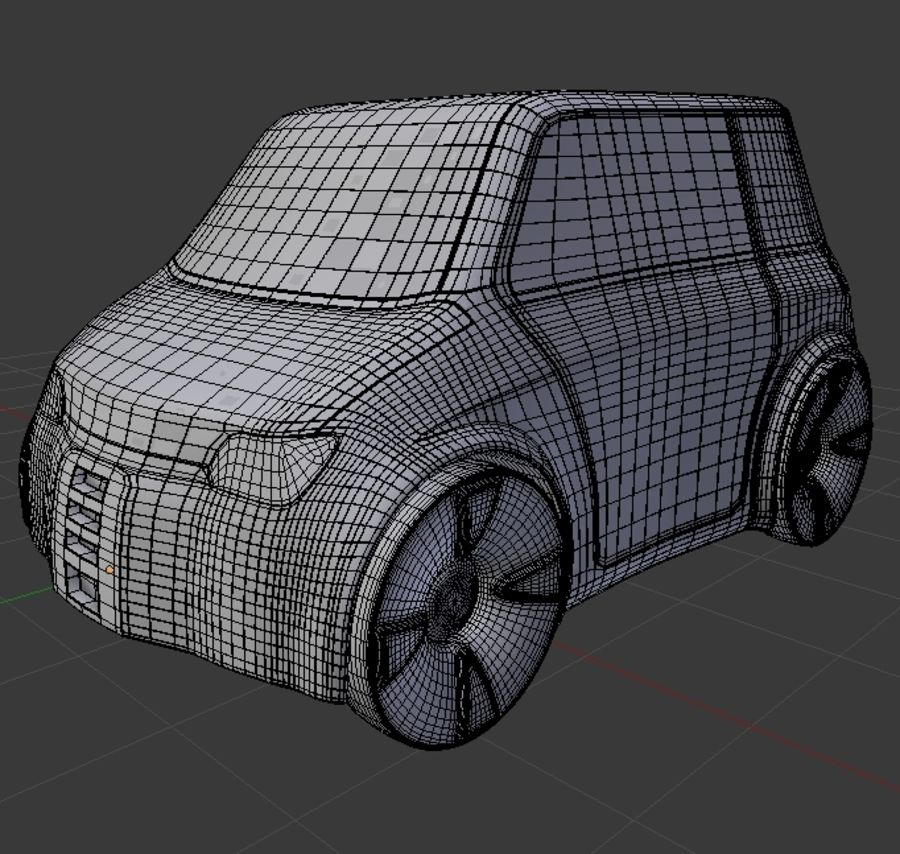 Compact electric concept car 9 v2 royalty-free 3d model - Preview no. 7