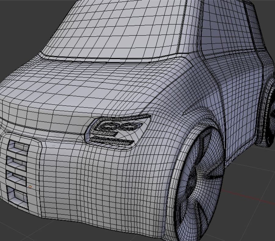 Compact electric concept car 9 v2 royalty-free 3d model - Preview no. 8