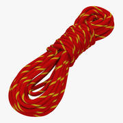 Rock Climbing Rope Red 3d model