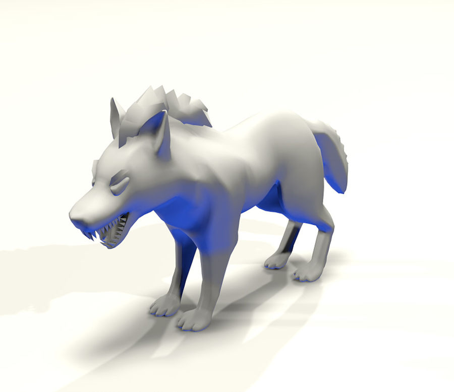 Wolf forest Toon royalty-free 3d model - Preview no. 2