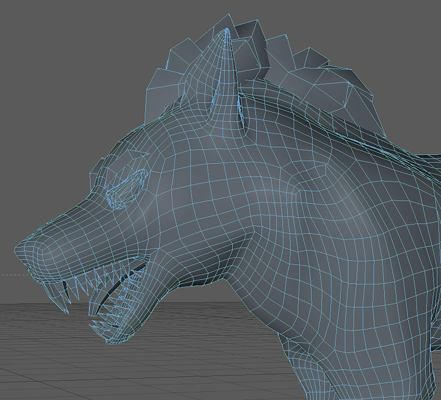 Wolf forest Toon royalty-free 3d model - Preview no. 5