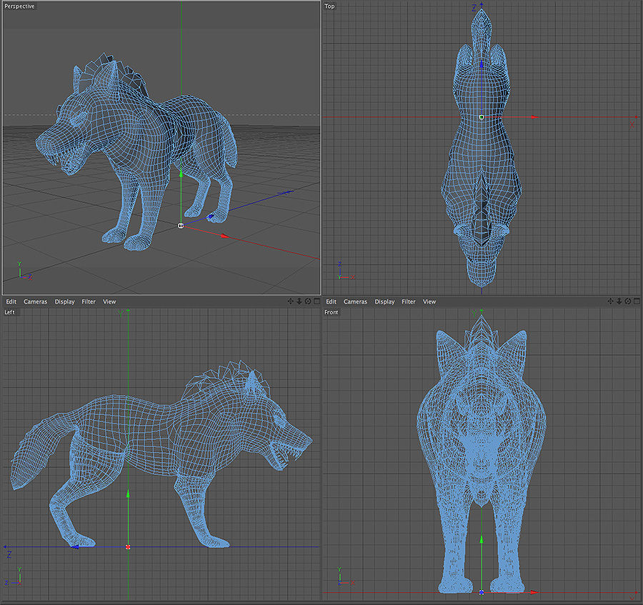 Wolf forest Toon royalty-free 3d model - Preview no. 6