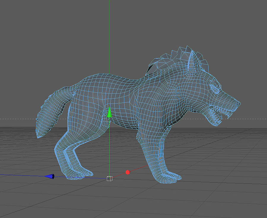 Wolf forest Toon royalty-free 3d model - Preview no. 3