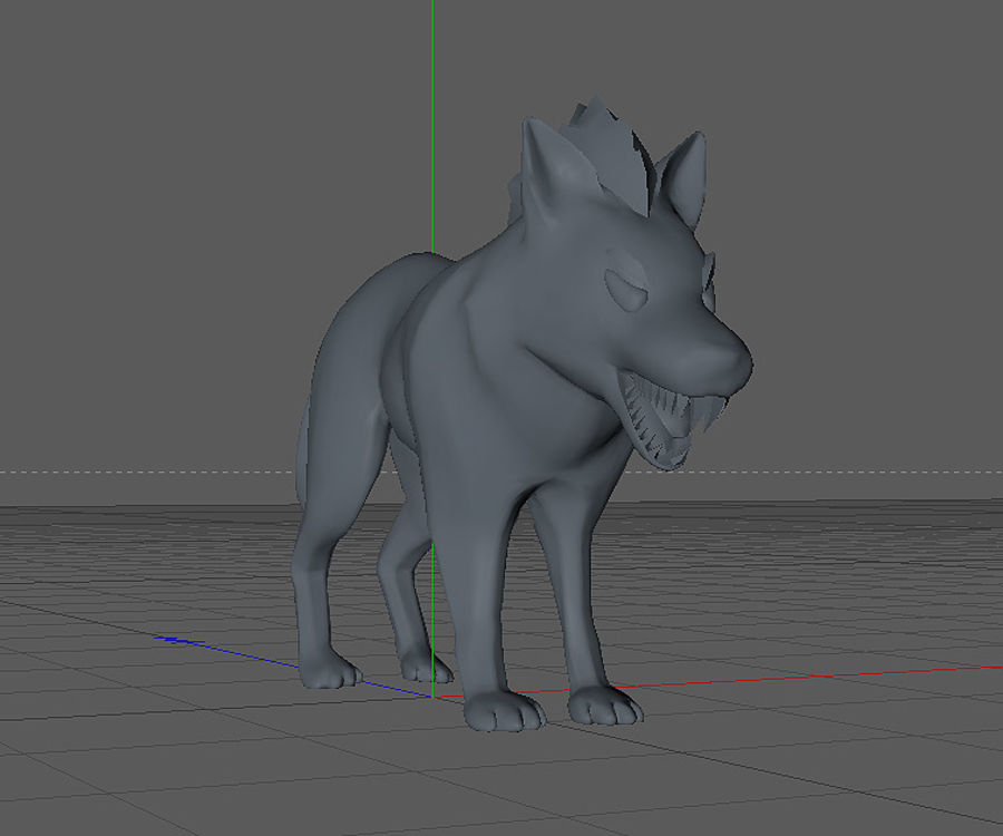 Wolf forest Toon royalty-free 3d model - Preview no. 4