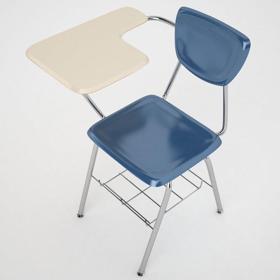 Escola estudante mesa 01 royalty-free 3d model - Preview no. 9