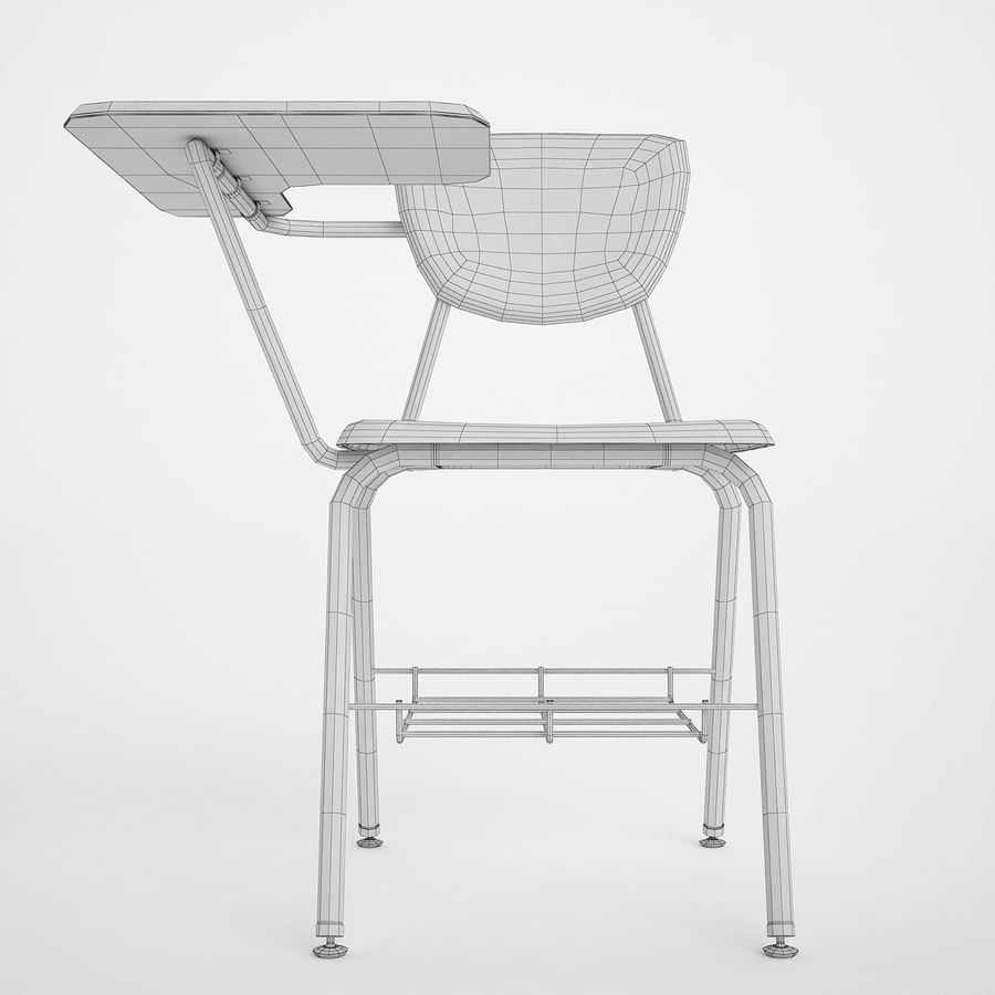 Escola estudante mesa 01 royalty-free 3d model - Preview no. 6