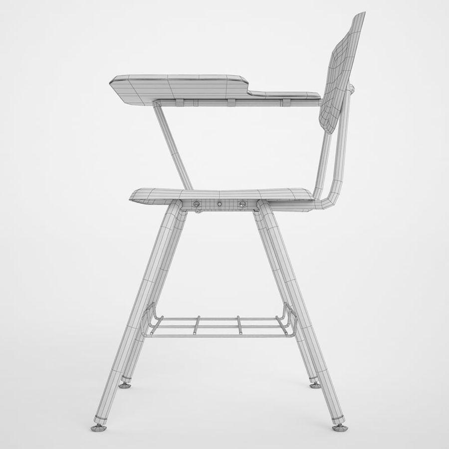 Escola estudante mesa 01 royalty-free 3d model - Preview no. 8