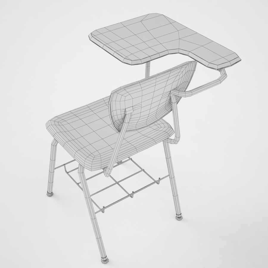 Escola estudante mesa 01 royalty-free 3d model - Preview no. 12