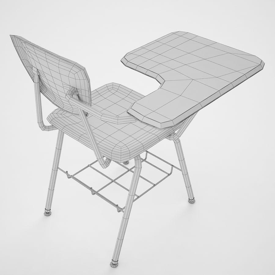 Escola estudante mesa 01 royalty-free 3d model - Preview no. 14