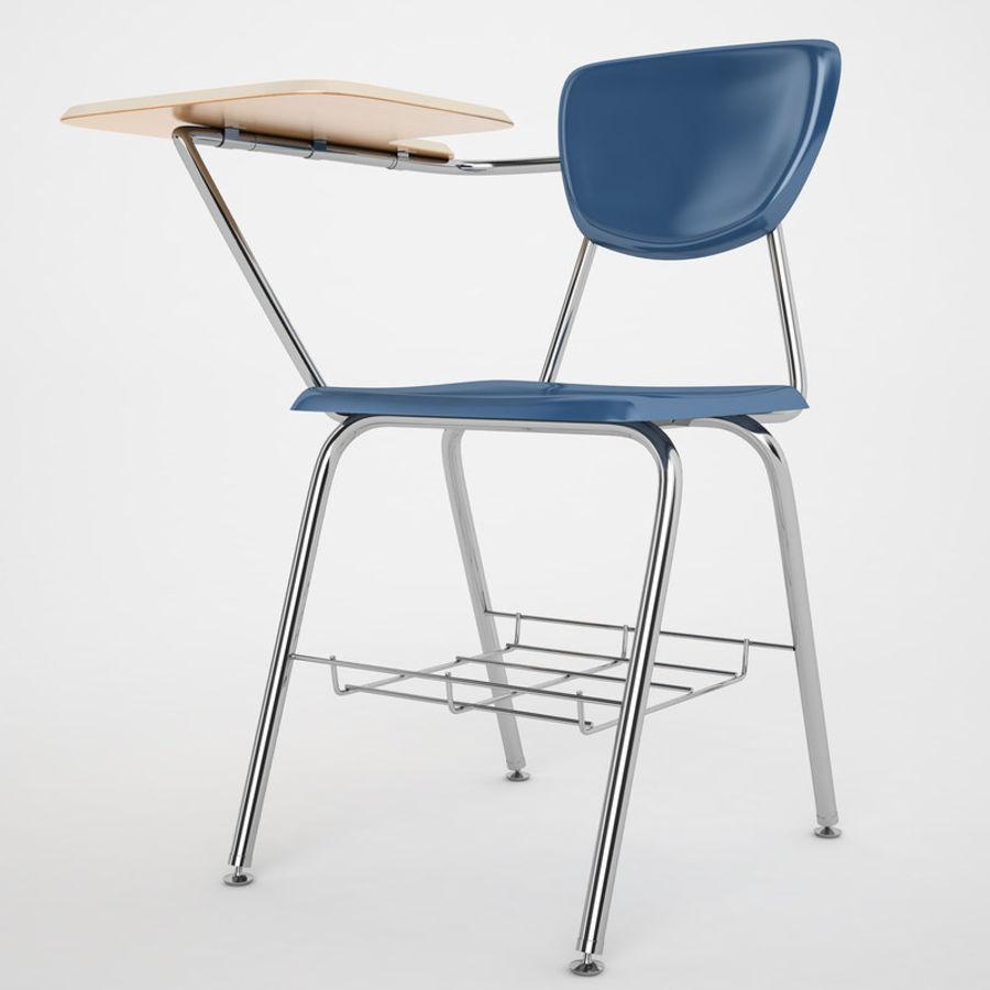 Escola estudante mesa 01 royalty-free 3d model - Preview no. 2