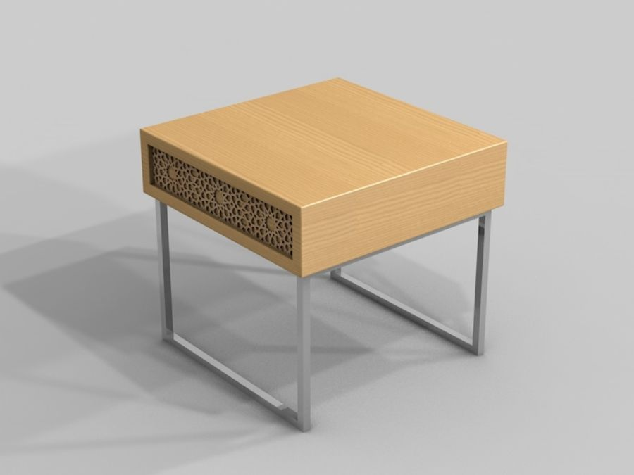 BEDSIDE royalty-free 3d model - Preview no. 2