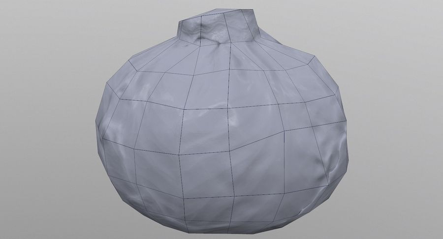 Low Poly Cabbage - Game Ready royalty-free 3d model - Preview no. 9