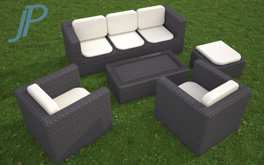 Garden Furniture royalty-free 3d model - Preview no. 1