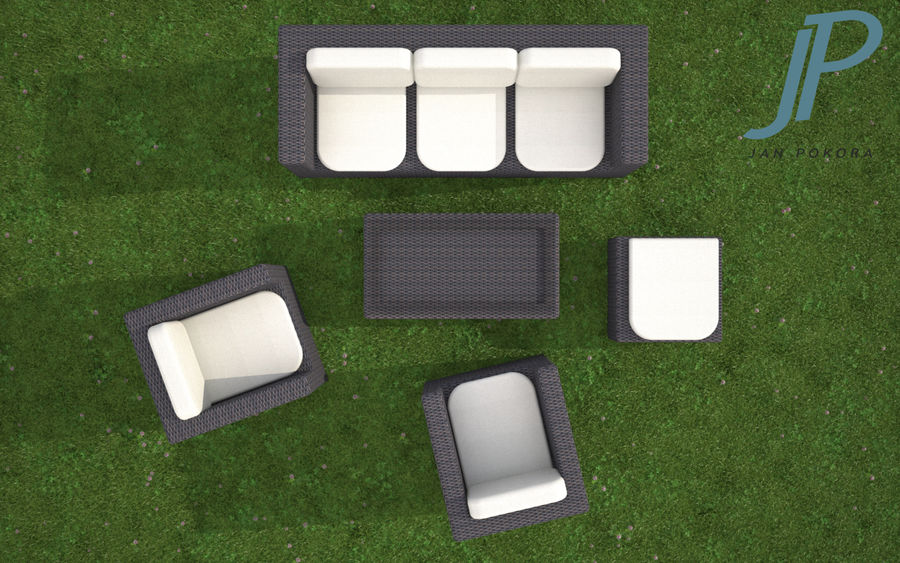 Garden Furniture royalty-free 3d model - Preview no. 3