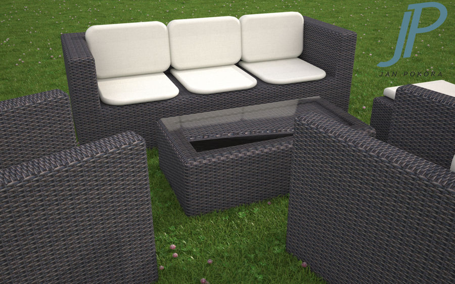 Garden Furniture royalty-free 3d model - Preview no. 2