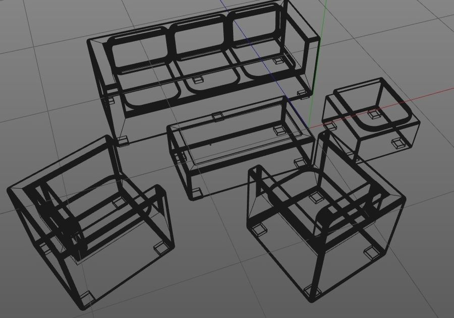 Garden Furniture royalty-free 3d model - Preview no. 4